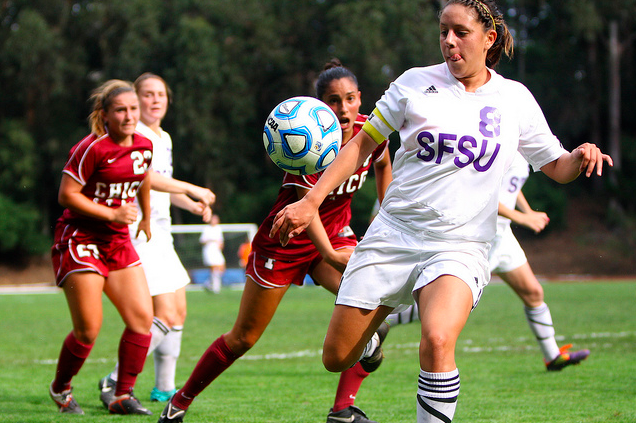 Women's soccer team defeats Chico in thrilling matchup
