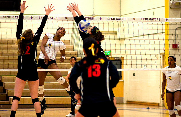 SF+State+volleyball+defeats+Cal+State+Stanislaus%2C+moves+up+to+rank+fifth+in+conference+standings