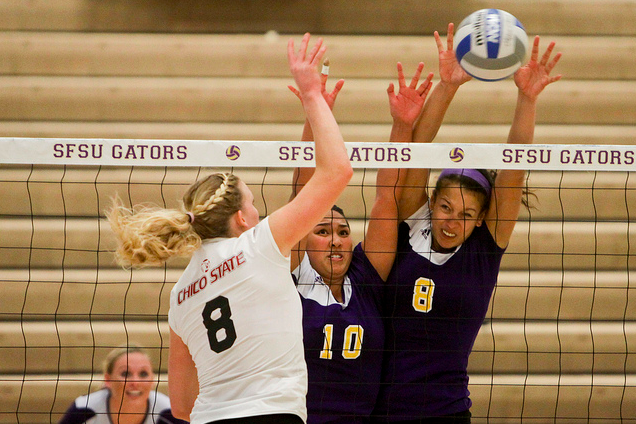 SF+State+volleyball+defeats+Chico+State+in+high-energy+matchup