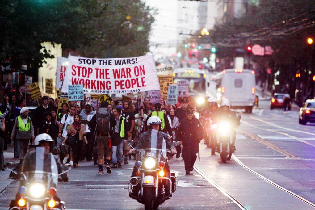 PHOTOS: Demonstrators against the Afghanistan war join Occupy SF