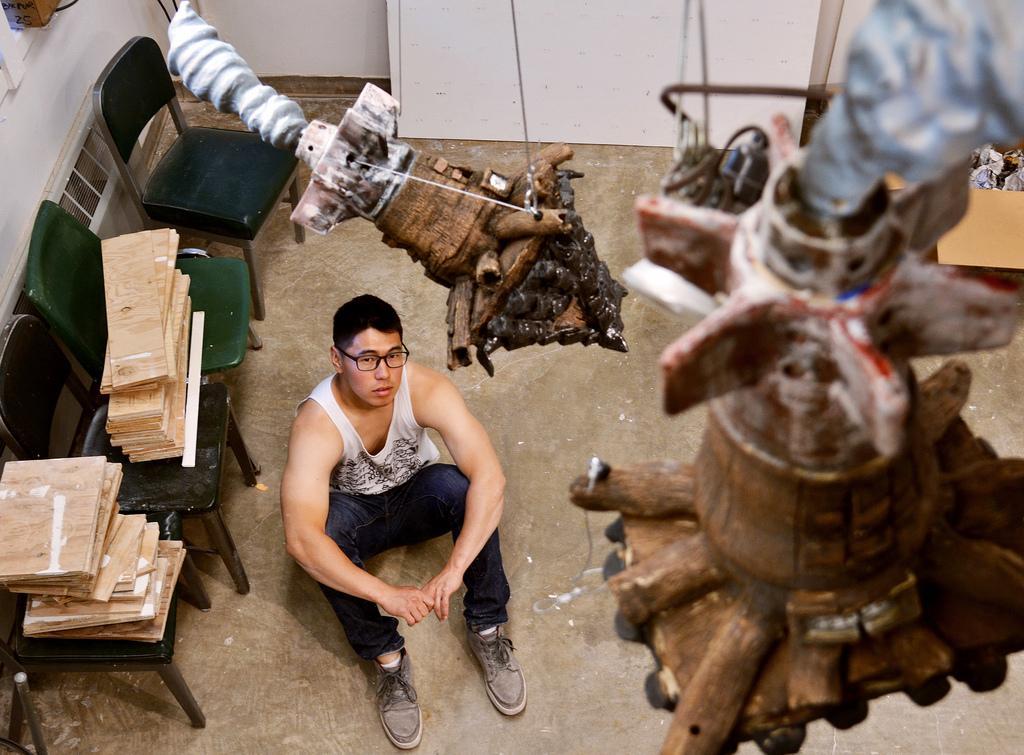Korean American artist sculpts dual identity