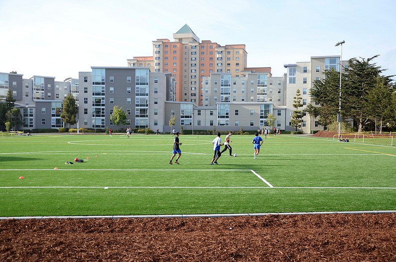 Campus recreational field brings students out to play