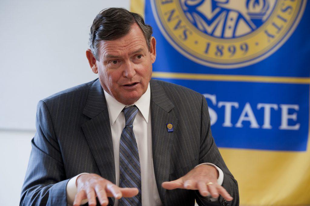 CSU Chancellor White chats with Xpress