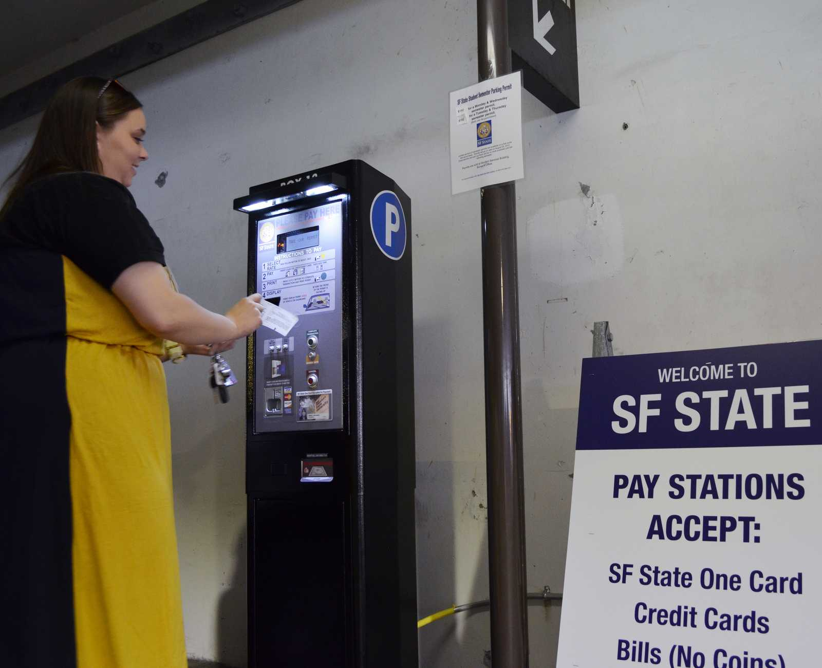 Parking structure upgrades to accept credit cards