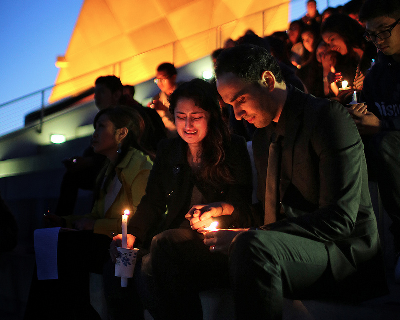 SF State, friends and family remember Justin Valdez at candlelight vigil