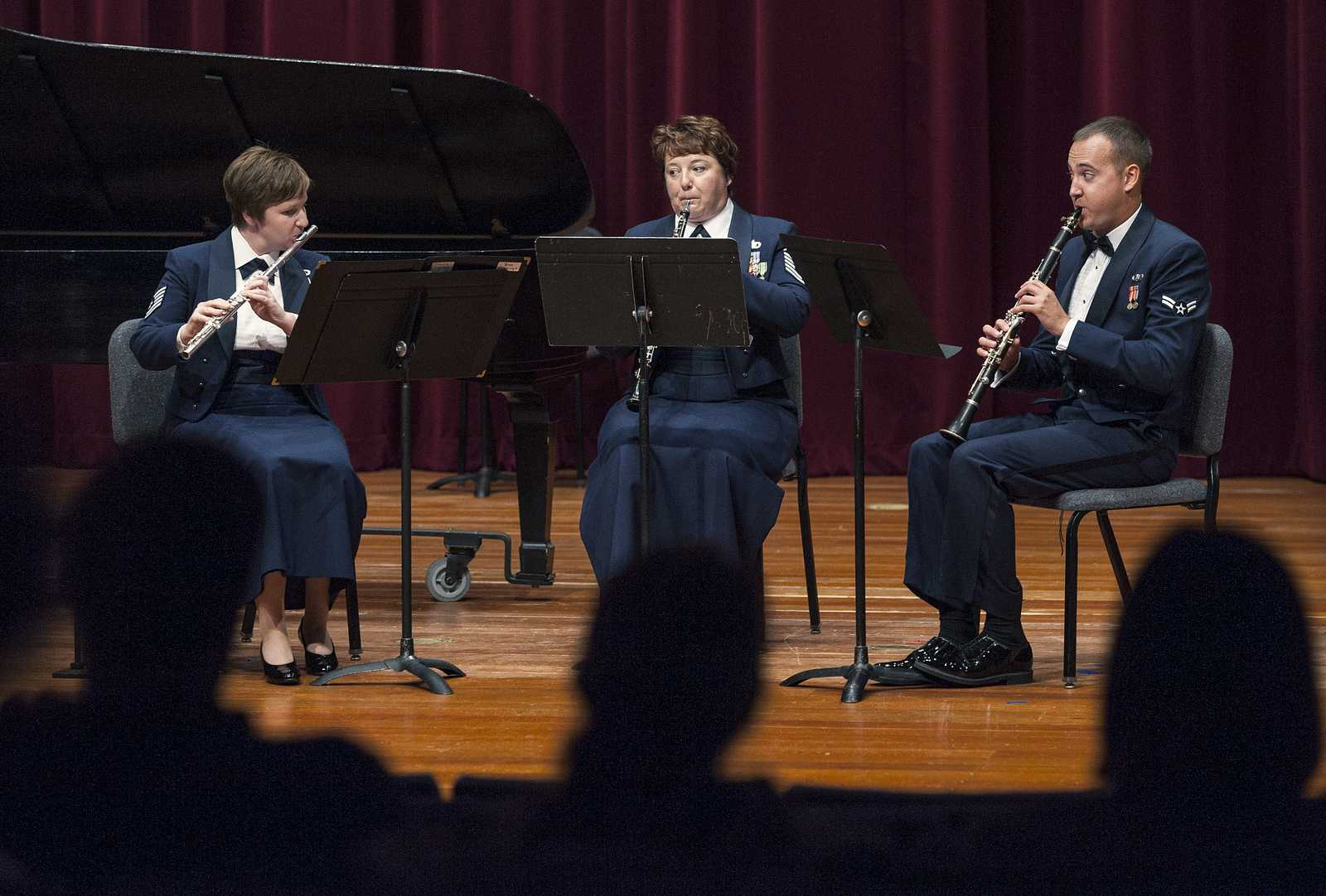 US Air Force band plays chamber recital in Knuth Hall