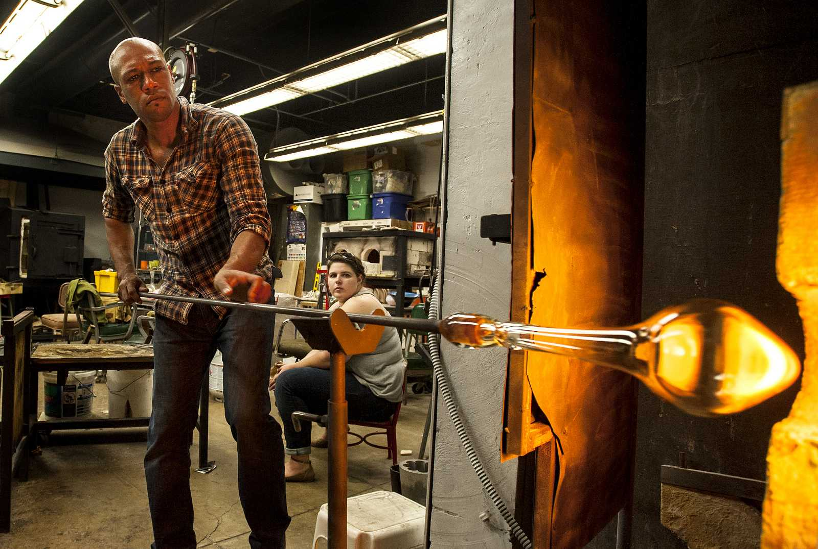 Glass blowing course at SF State meets what could be its final semester