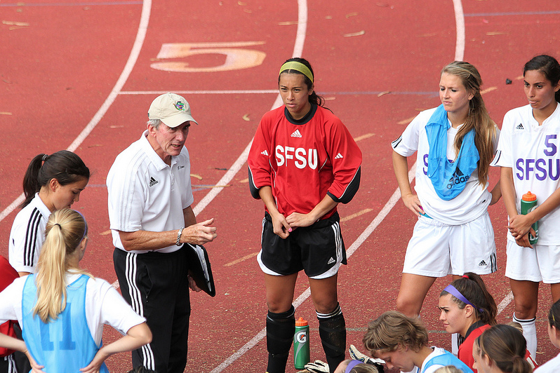 Women's soccer coach led club sport to conference title during 34-year career