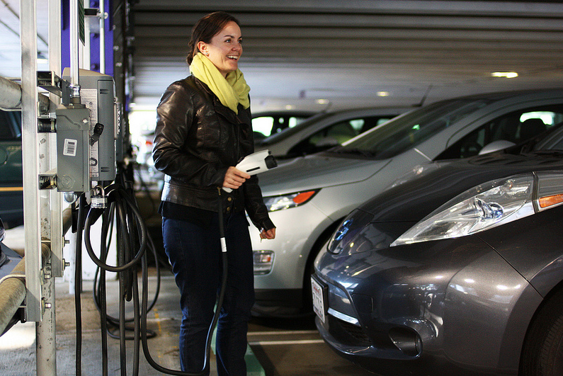 New campus electric car charging stations provide much needed energy