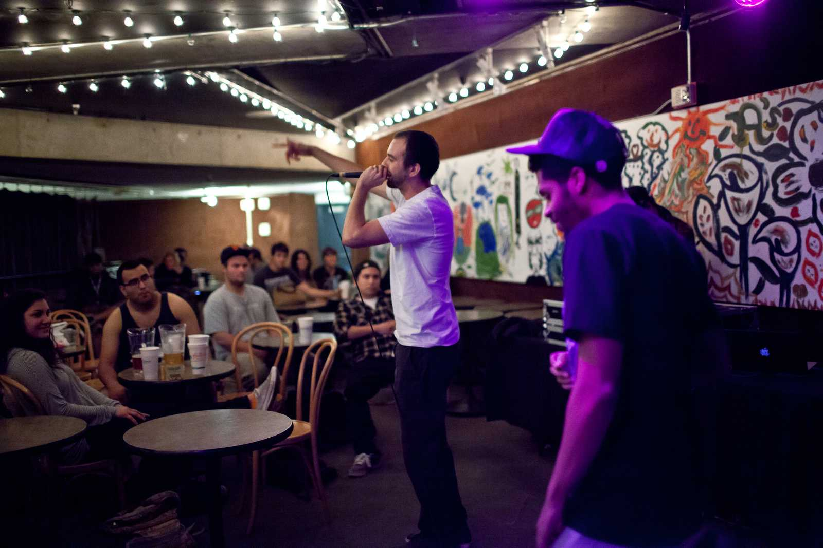 Rappers delight with open mic show at The Depot