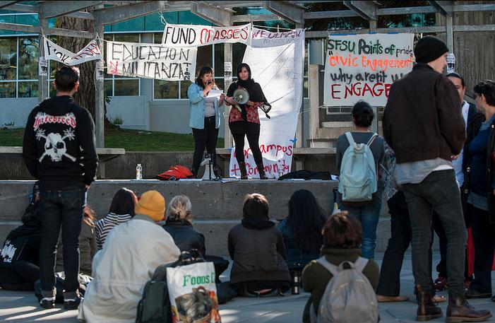 Taser debate sparks student protest