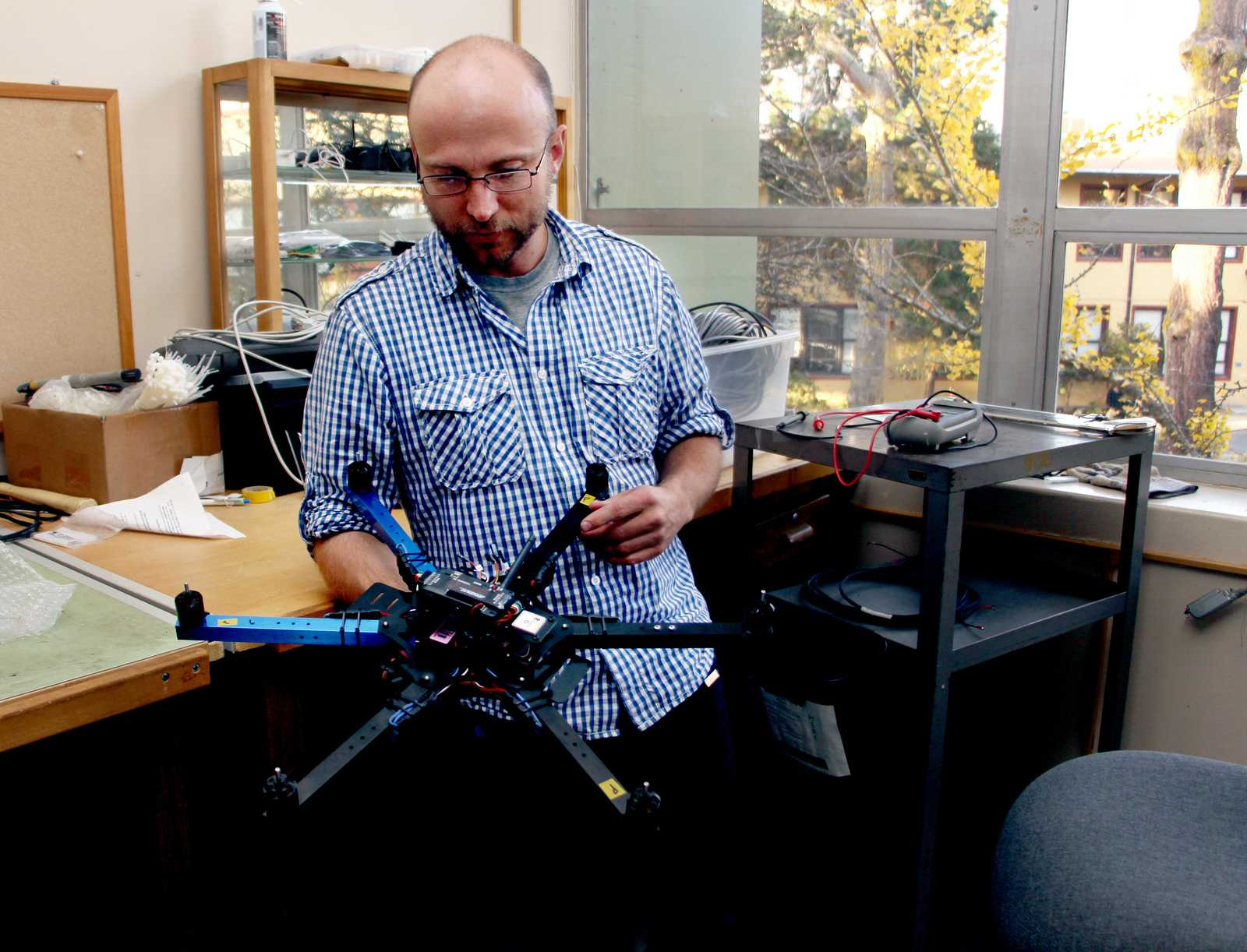 SF State geographers use 'hexacopter' to study California landscapes
