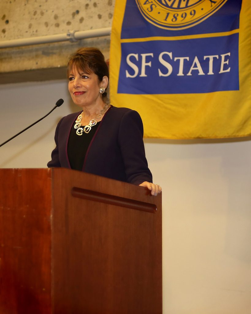 Congresswoman Jackie Speier visits SF State, encourages students to enroll in healthcare