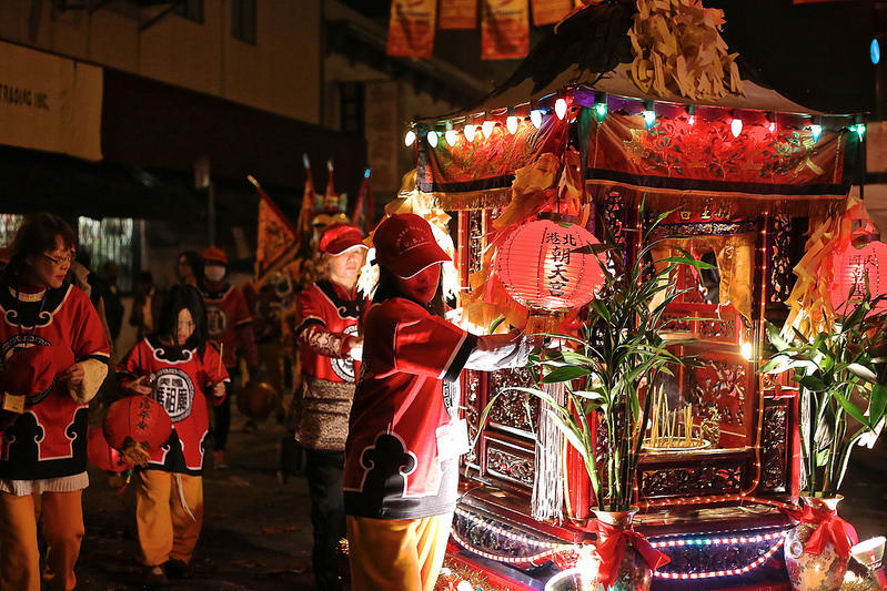 Volunteers+from+the+Ma-Tsu+Temple+move+part+of+their+parade+procession+Saturday%2C+Feb.+15%2C+2014.+Photo+by+Ryan+Leibrich+%2F+Xpress