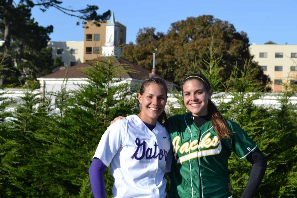 Sister, sister: Twin softball players go head-to-head