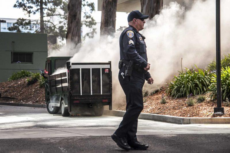 SFSU maintenance vehicle fire