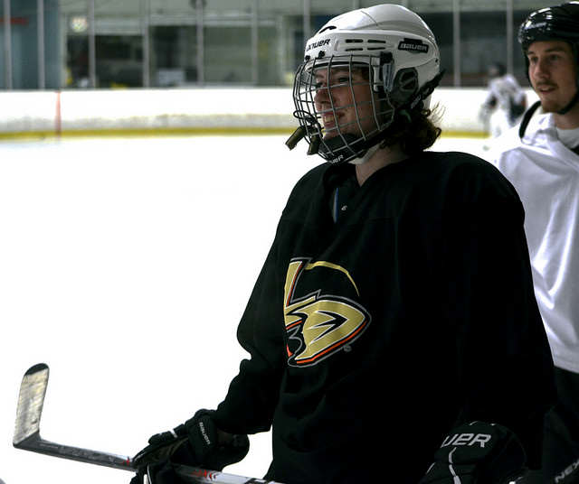 Emily Wilburn practices with the San Francisco Hockey club of SF State at Nazareth Ice Oasis in Redwood City, Calif. Sunday, Sept. 7, 2014.