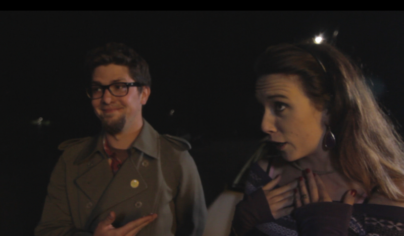 Characters Henry (Daniel Thibodeaux) and Laura (Kaitlin Clancey) get confrontational after a minor car accident in