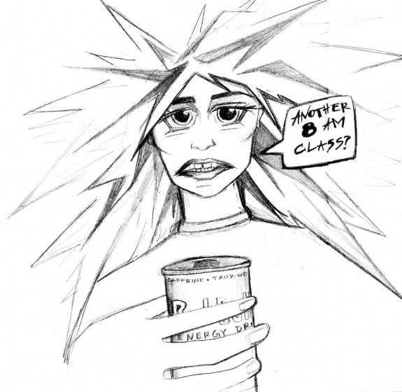 College students need to be careful about how much caffeine they intake during stressful times. Anna Lark / Special to Xpress.
