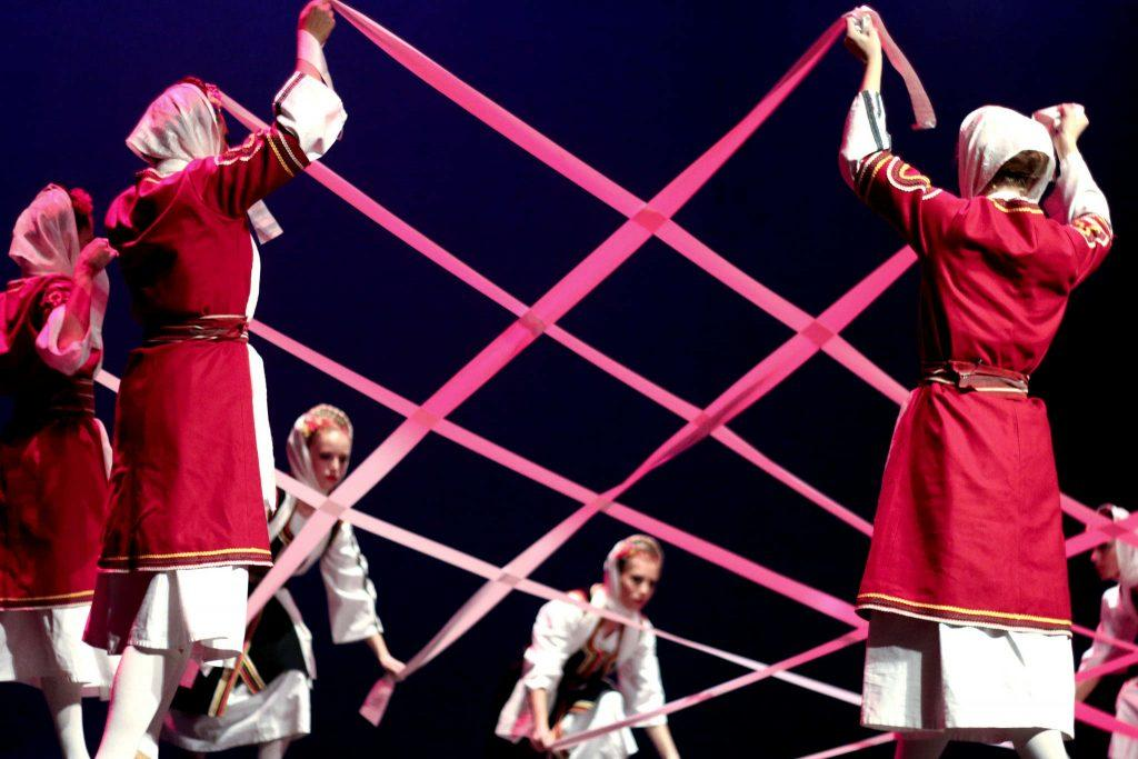 Serbian dancers perform Talija Art Co. dance routines, in the McKenna Theatre at SF State, Friday, Oct. 10, 2014.