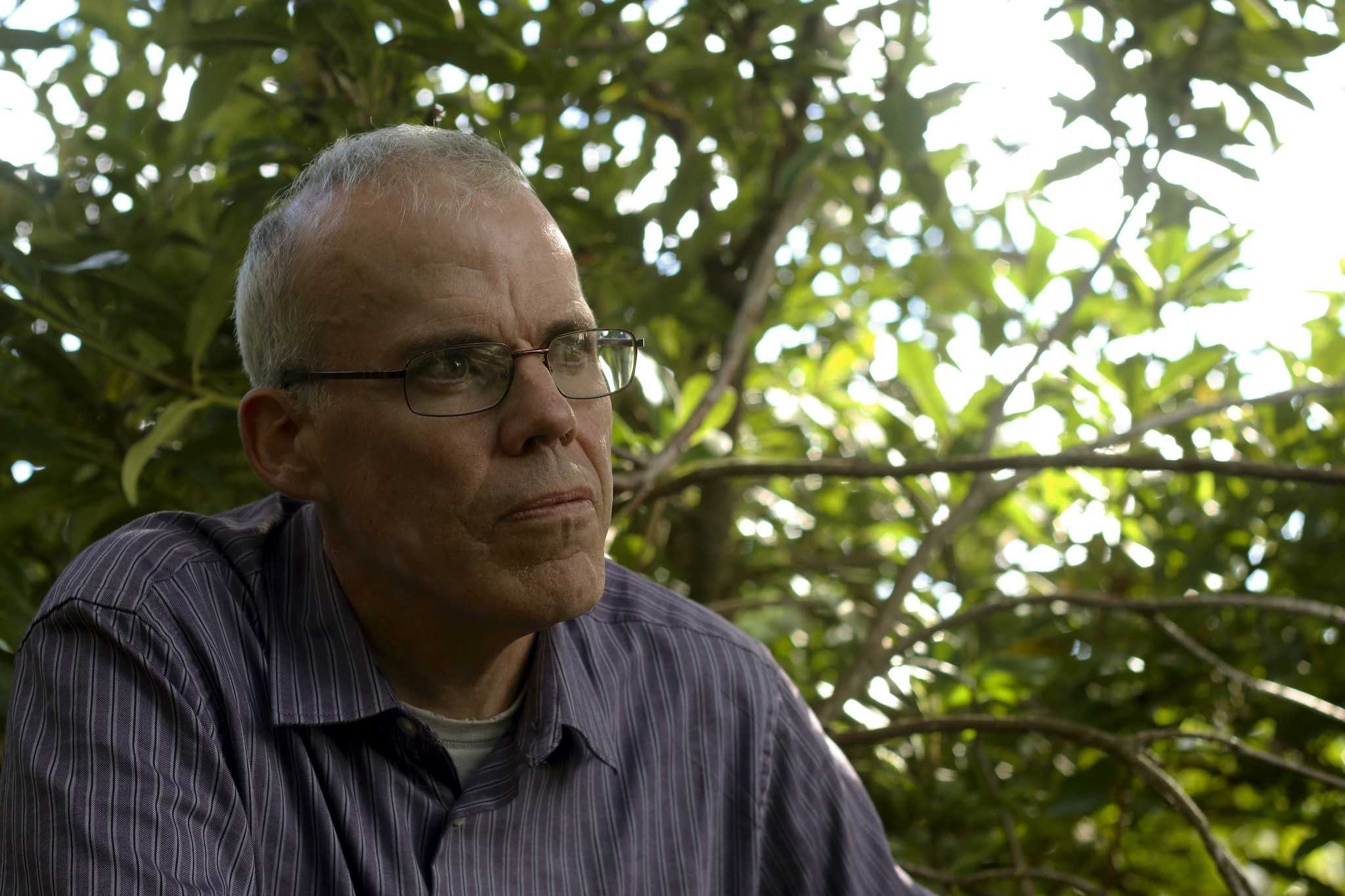 Bill McKibben, author and environmentalist, poses for a photo after his lecture on
