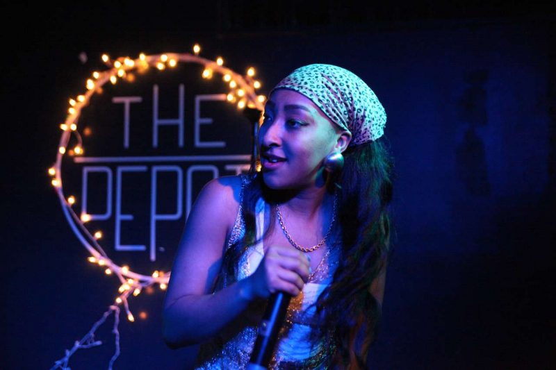 Get It Indy performs a song for the first time at the The Depot on Thursday, Oct. 29, 2014.