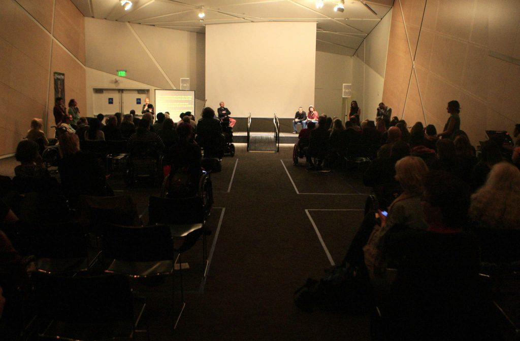 The+audience+gets+a+chance+to+ask+questions+about+the+films+shown+during+Superfest%2C+the+International+Disability+Film+Festival+at+the+Contemporary+Jewish+Museum+in+San+Francisco%2C+Calif.%2C+Sunday%2C+Nov.+2%2C+2014.