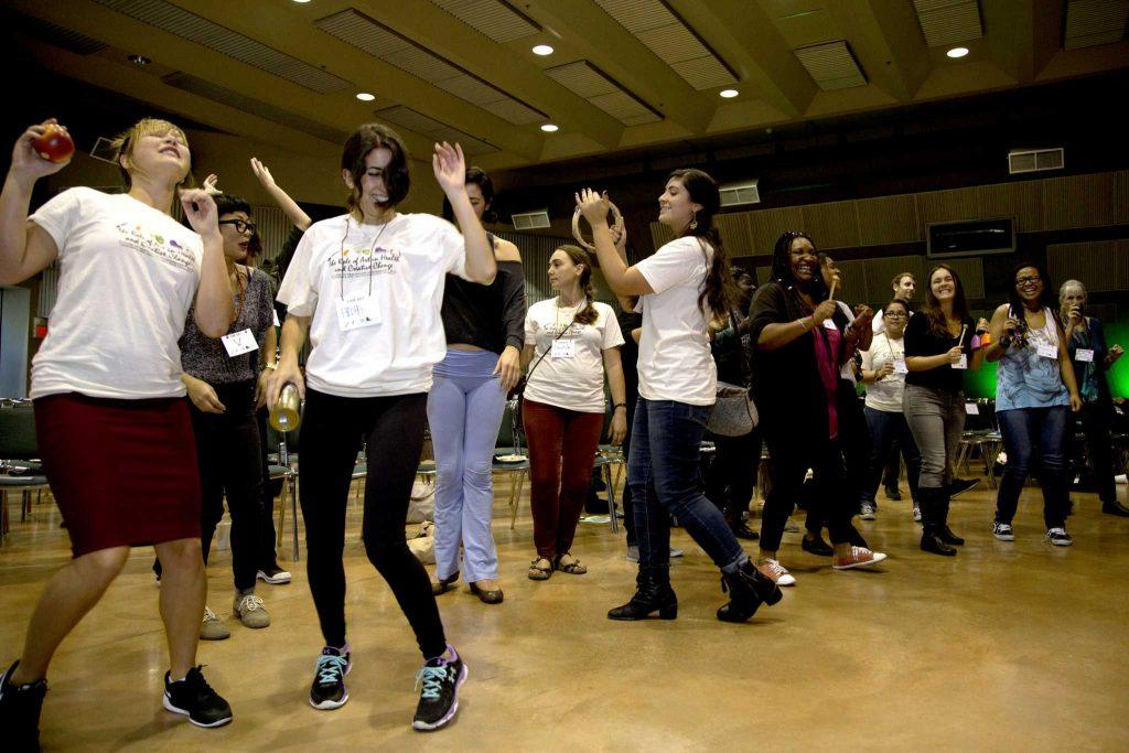 SF State students dance in celebration of the role of art in health and creative change at the Future of Healthcare Conference 2014 in Jack Adams Hall Saturday, Nov. 8, 2014. Emma Chiang/Special to Xpress