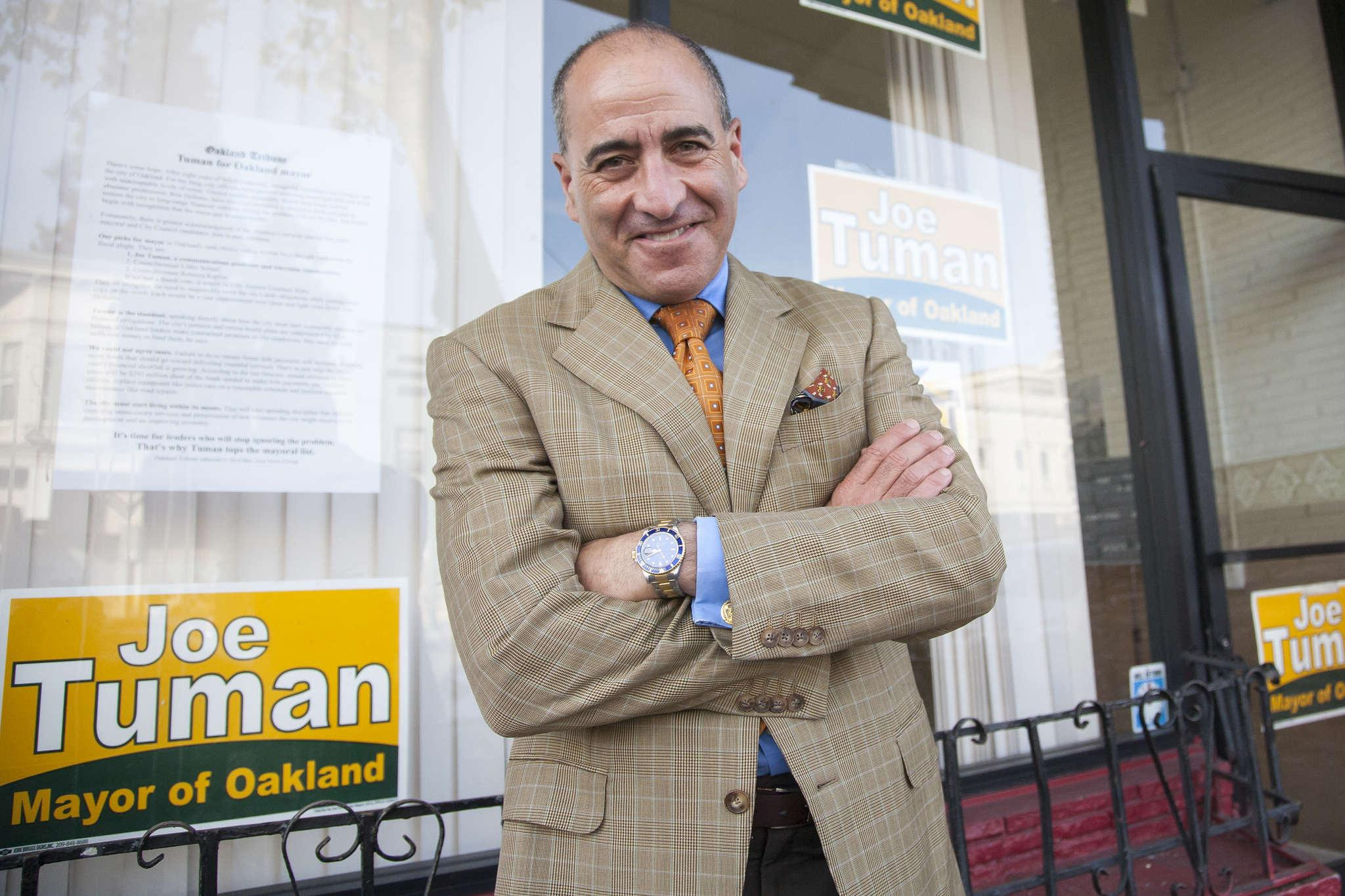 Mayoral canidate Joe Tuman poses for a photograph Monday, Nov. 3, 2014. Martin Bustamante/Xpress.Mayoral canidate Joe Tuman poses for a photograph Monday, Nov. 3, 2014.