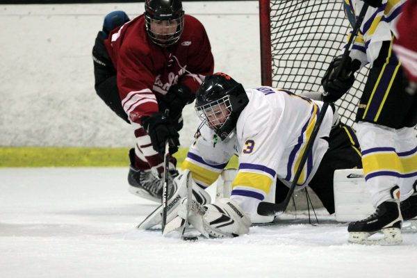 Gators goalkeeper Cillian Variot traps the puck during match against Stanford Cardinal in Redwood City Saturday, Nov. 15, 2014. The Gators lost 21-5. Martin Bustamante/Xpress.