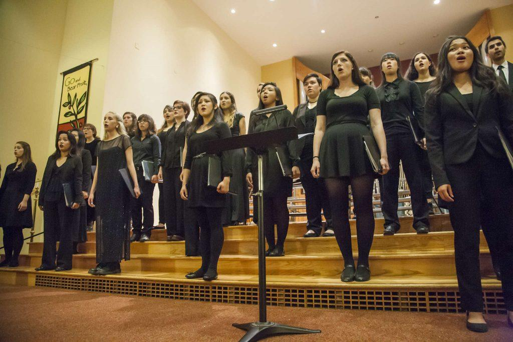 The+SF+State+University+Chorus+performing+in+the+13th+annual+Harvest+Concert+at+Lakeside+Church+Friday+Nov.+14%2C+2014.+Martin+Bustamante%2FXpress.