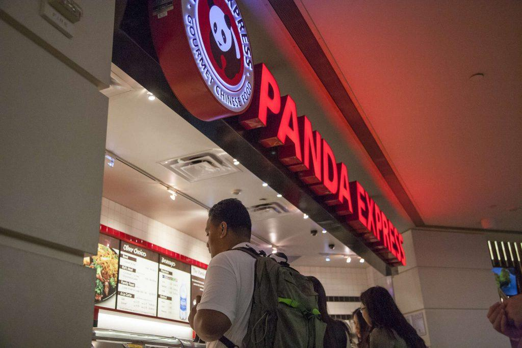 Patrons line up to order food at the Panda Express in the Stonestown shopping mall Tuesday January 27, 2015.