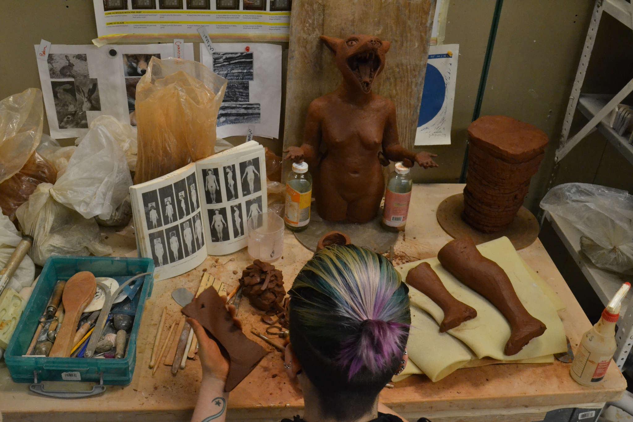 Ceramics student brings clay to life