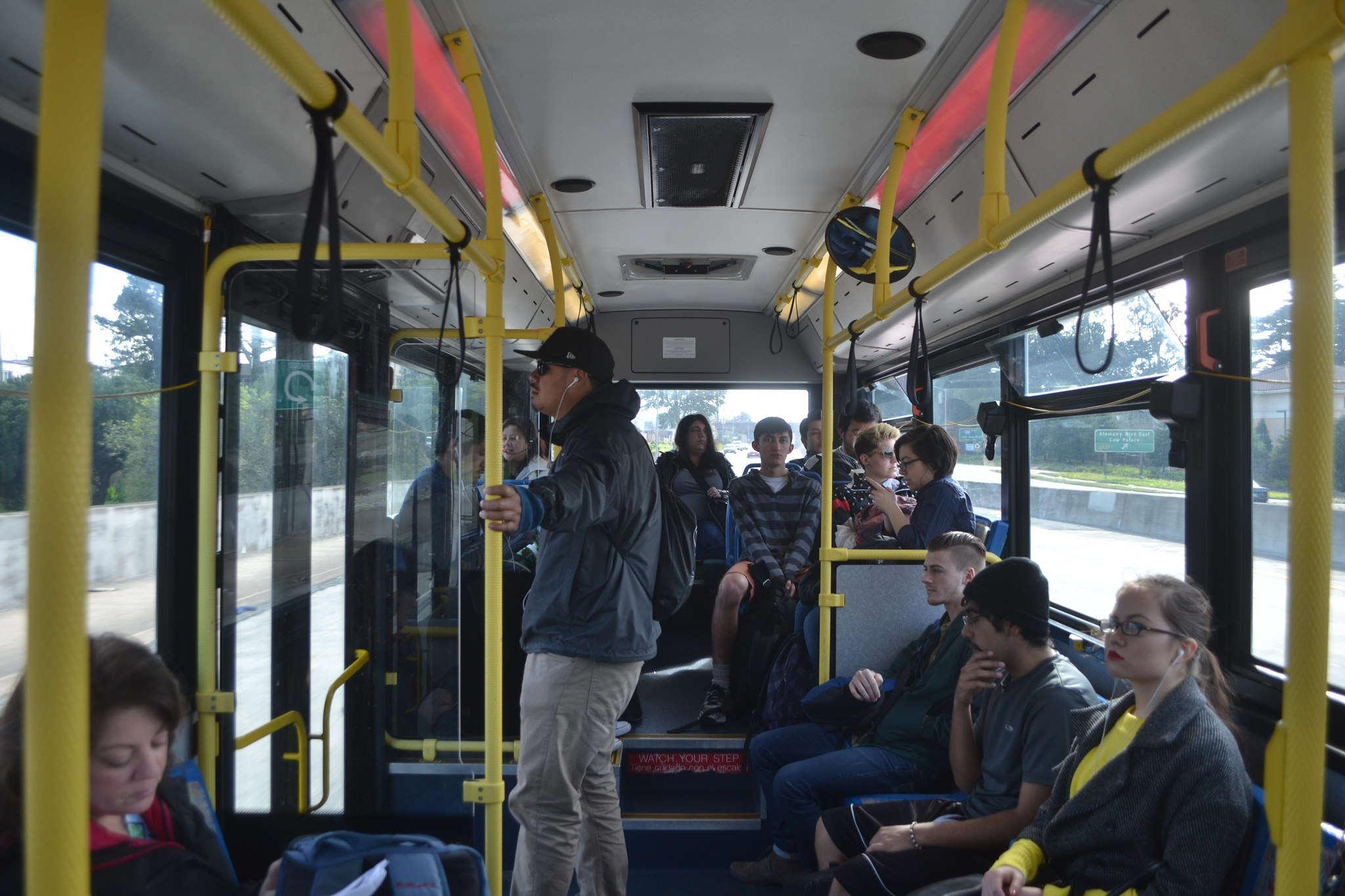 Shuttle drivers provide a glimpse into new buses