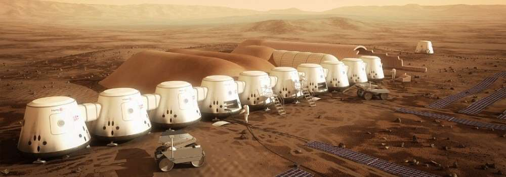 Pods that are expected to be on Mars, ready for arrival in 2024 (Mars One website)