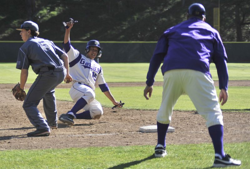 Men's baseball kickoff home stance with loss against Academy of Art