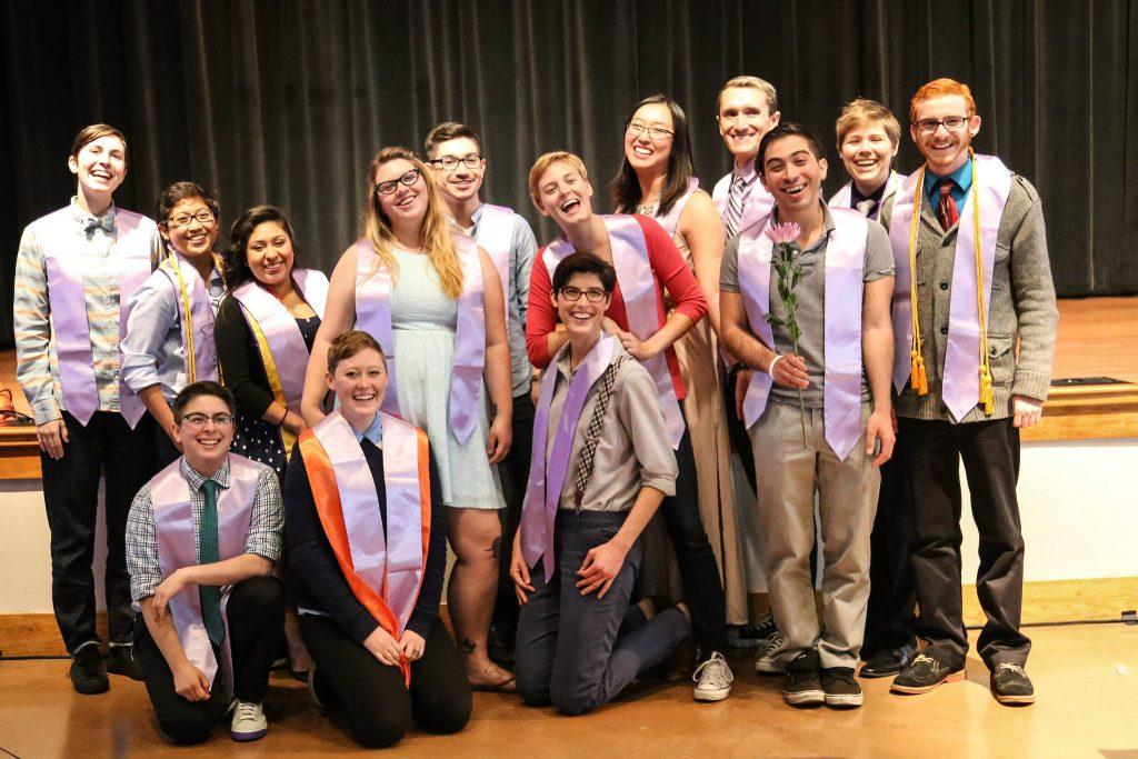 Graduates pose for a picture at the third annual LGBTQ