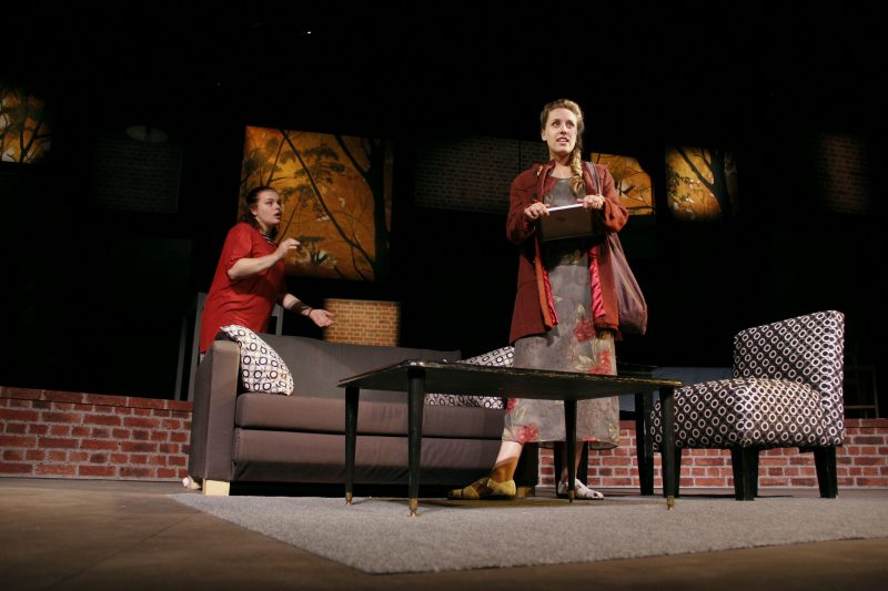 Lauren Prentiss (left) and Rosie Anderson (right), co-stars in the play,