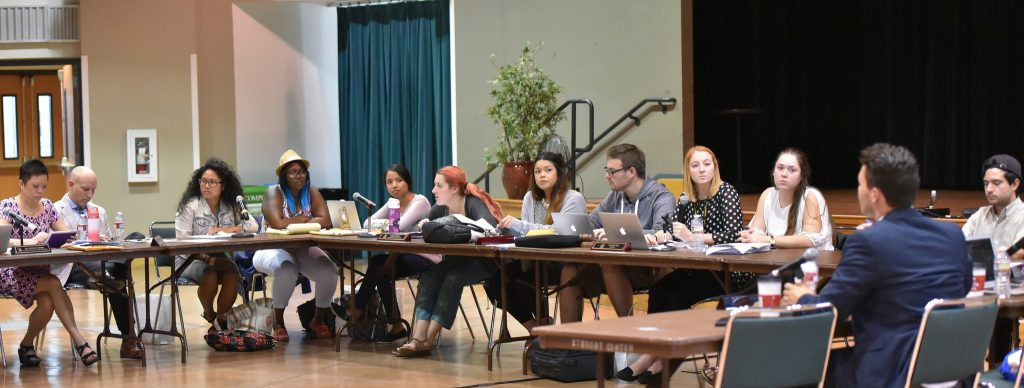 Associated Students, Inc. board of directors vote against decreasing current funding for historical organizations at SF State Wednesday, Oct.14. (Qing Huang / Xpress)