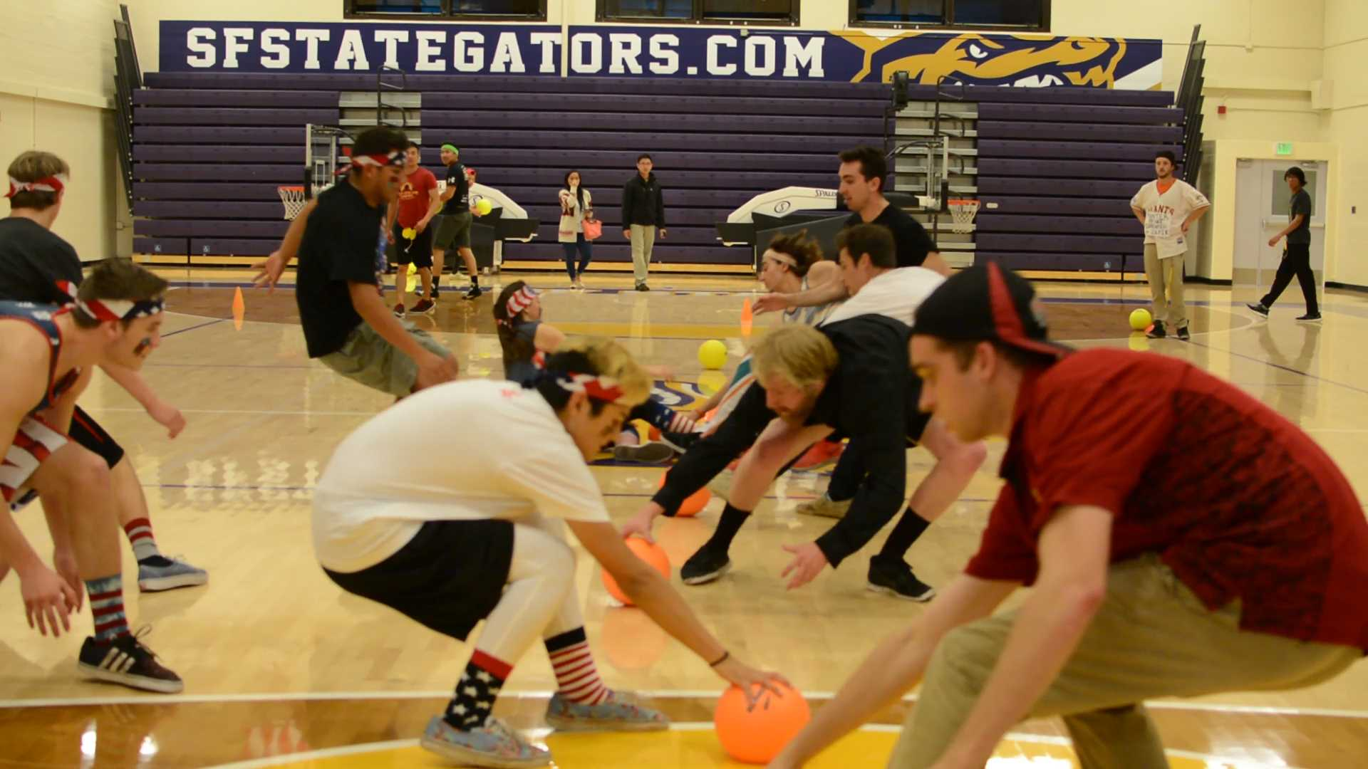 Students gear up for Halloween dodgeball