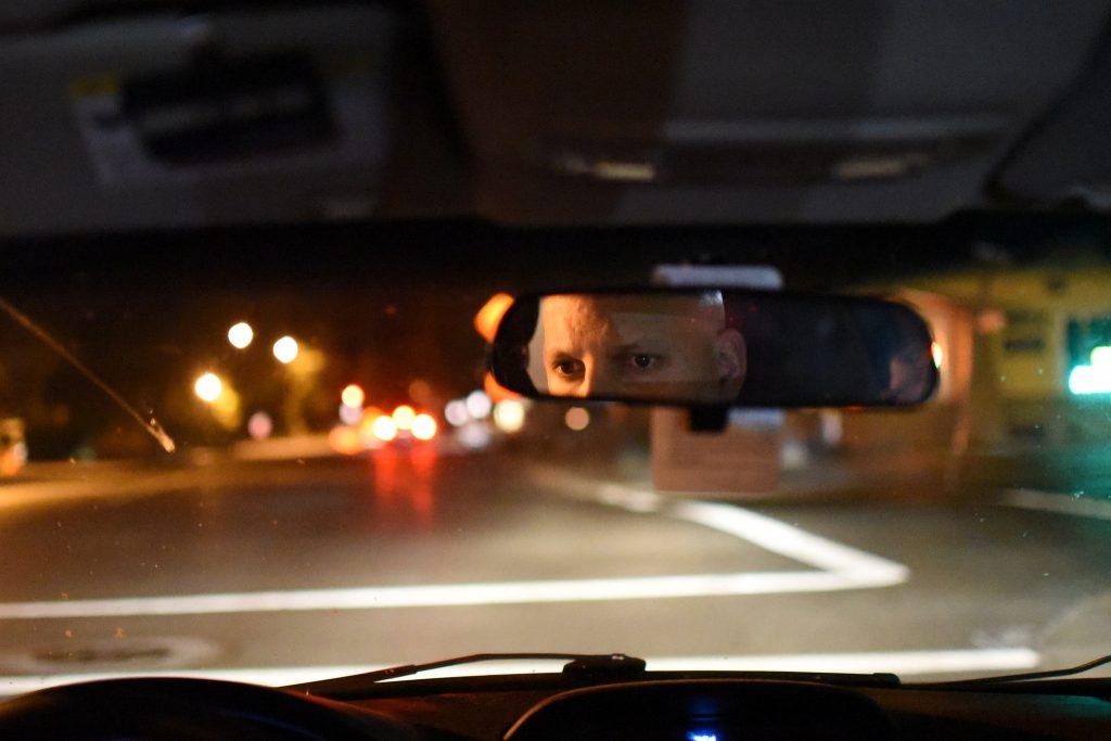SF State lecturer Matt Silverman drives home after work Monday, Oct. 12. David Henry / Xpress