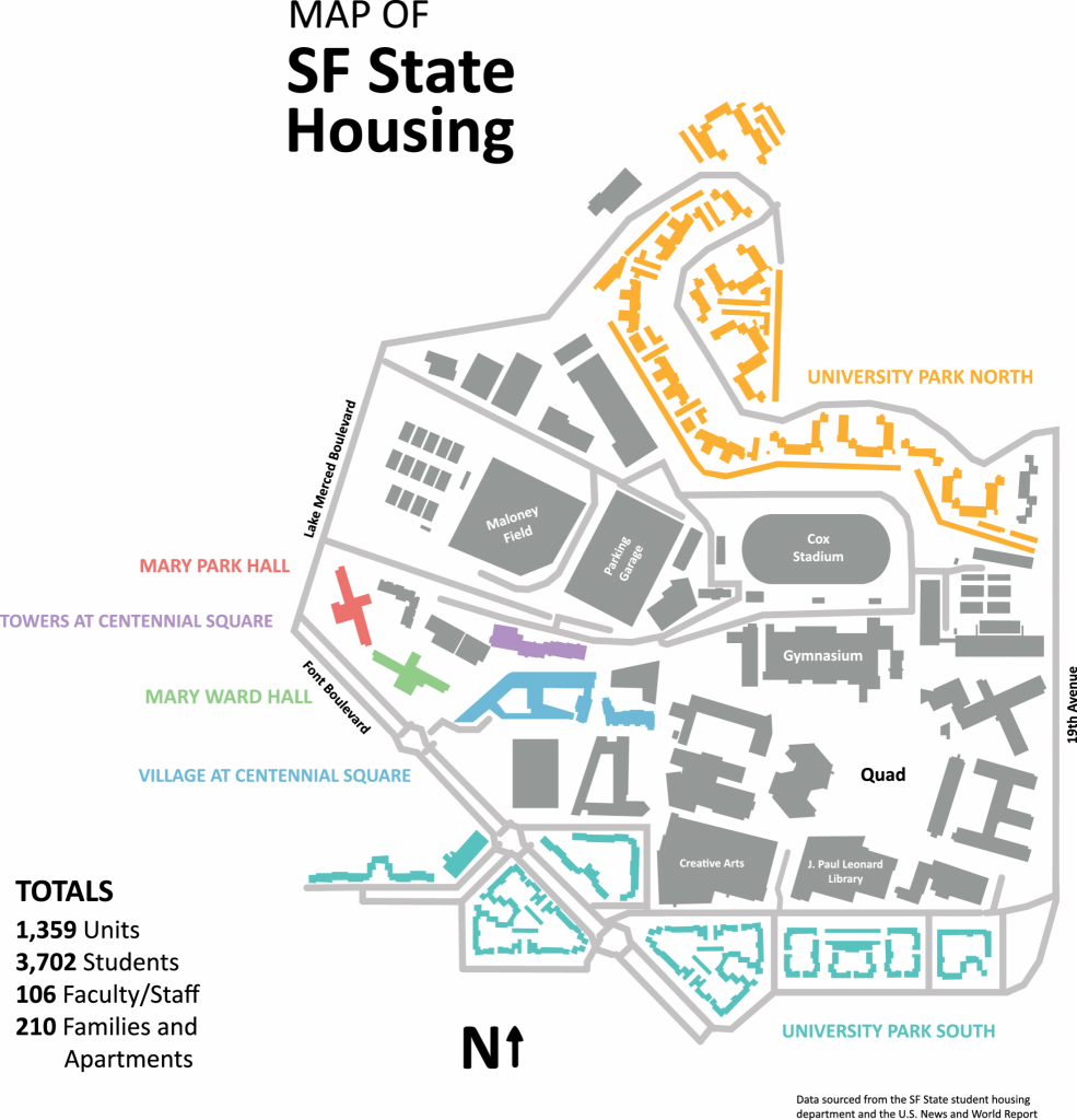 Interactive: map of SF State housing
