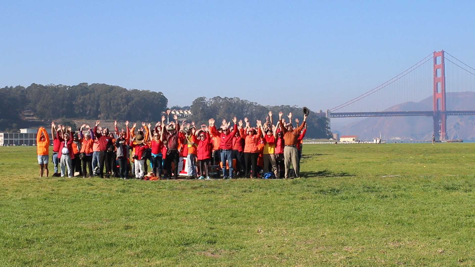 SF State's Recreation, Parks and Tourism department celebrated the National Park Service's 100th birthday at Crissy Field, Golden Gate National Recreation Nov. 14, 2015. (Screenshot by Lulu Orozco)