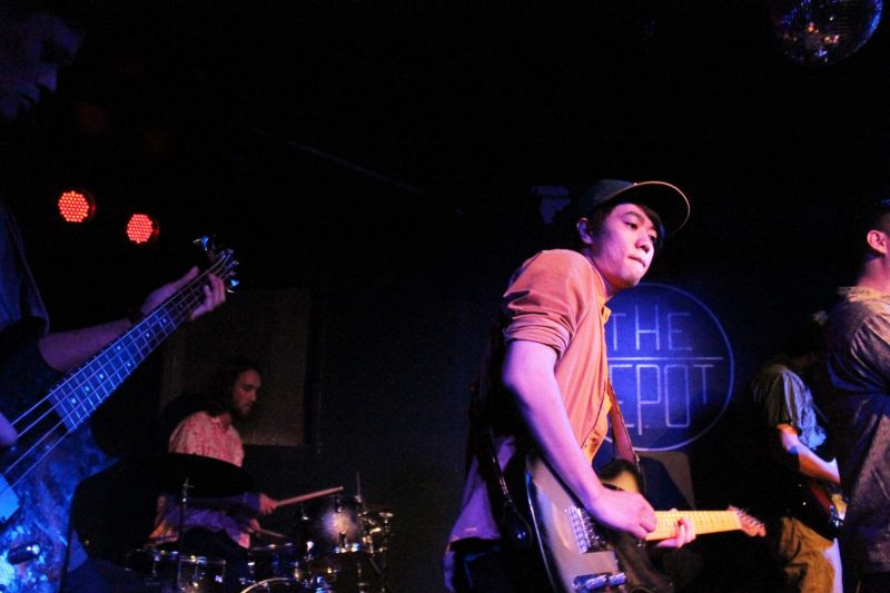 White Skies, a student-run band, plays at The Depot Thursday, Feb. 18, 2016. (Pablo Caballero / Xpress)