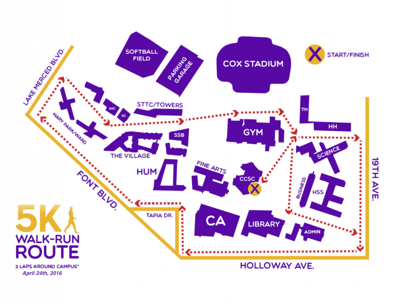 Interactive map: SF State 5K Walk, Run & Roll boosts fitness