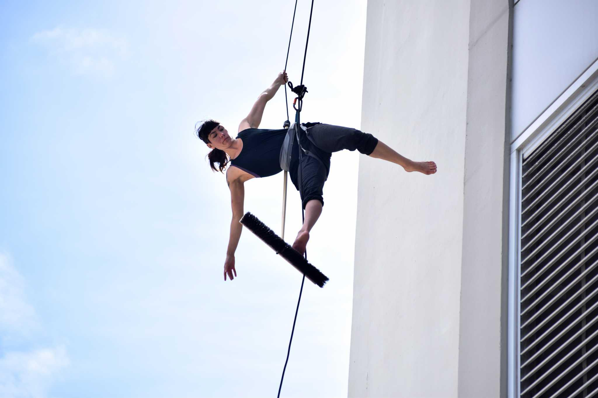 Aerial dance celebrates 30th anniversary of Labor Archives and Research Center