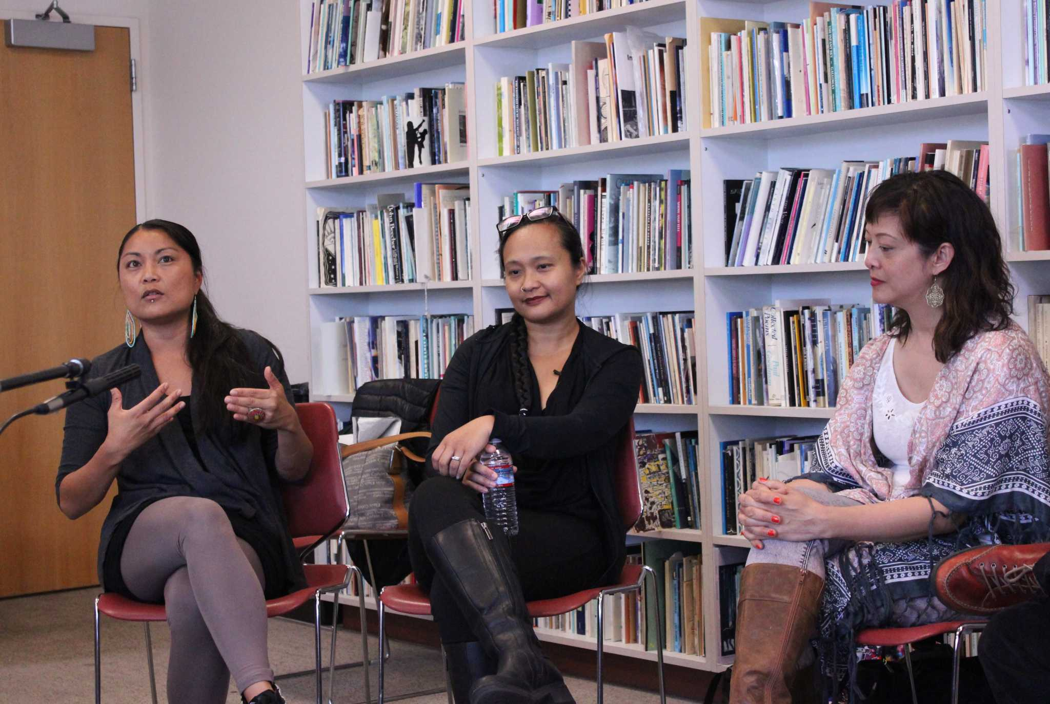 Poets at Kuwentuhan Talkstories on Thursday, April 21, 2016 (Cecilie Lyngberg / Xpress)