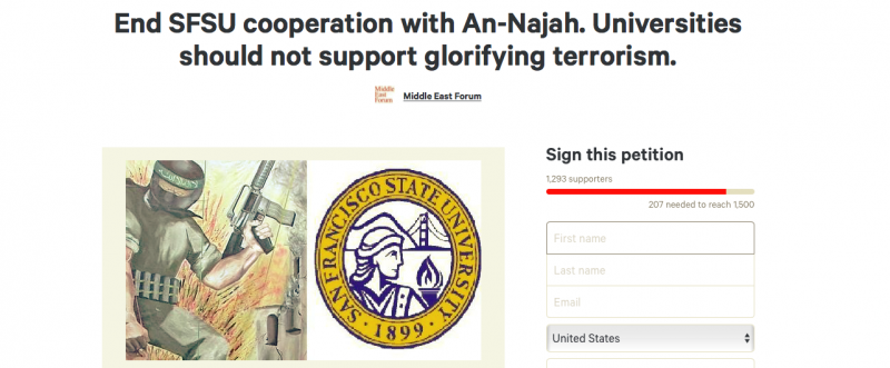 Petition criticizes SF State's relationship to Palestinian university