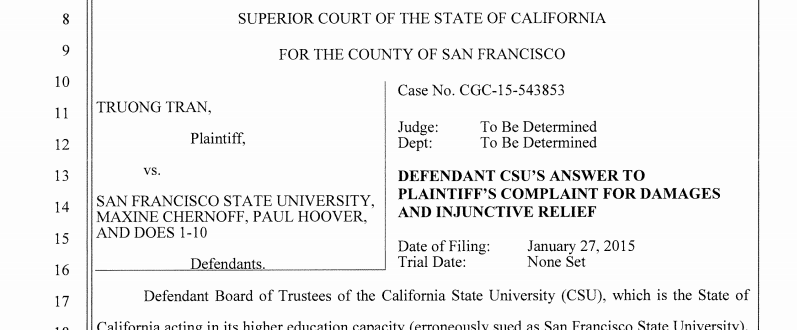 Detail of court document from case number CGC-15-43853 filed at San Francisco Superior Court on Oct. 23, 2016.