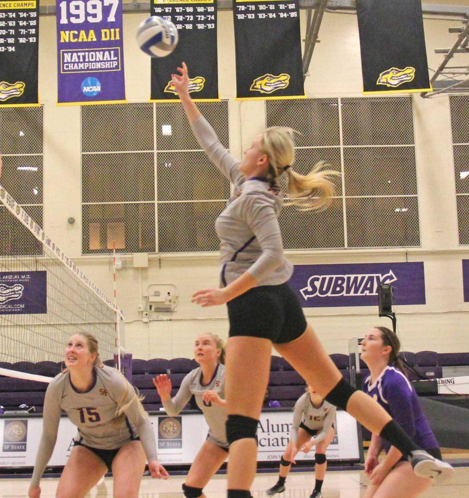 SF State volleyball swept by Cal State LA